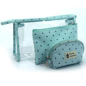 Newchic 3 Pieces Set Women Transparent PVC Makeup Bags Travel Cosmetic Bag Waterproof Handbag Organizer