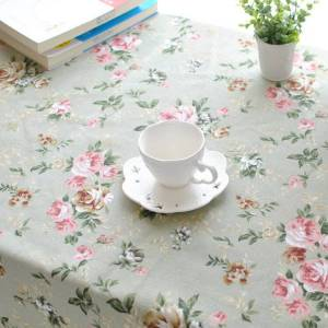 Newchic Rectangle Pastoral Style Thicken Cotton Linen Tablecloth Tableware Mat Desk Cover Home Decor