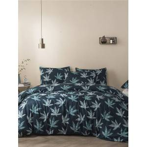 Newchic Quilt Three-Piece Home Textile Brushed Printing Kit Duvet Cover Bedding