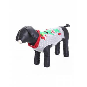 Newchic Christmas Clown Pet Dog Clothes Stuffed Ball Dog Sweater Teddy Golden Retriever Big Dog Clothes
