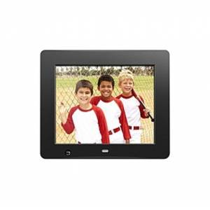 """Aluratek 8 inch Digital Photo Frame with Motion Sensor and 4GB Built-in Memory - 8"""" LCD Digital Frame - Black - 800 x 600 - Cable - 4:3 - Autostart Sl"""