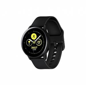 Samsung Galaxy Watch Active (40mm), Black (Bluetooth) - Wrist - Accelerometer, Barometer, Gyro Sensor, Health Sensor, Heart Rate Monitor, Ambient Ligh