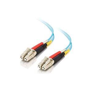 C2G 18m LC-LC 10Gb 50/125 Duplex Multimode OM3 Fiber Cable - Aqua - 59ft - 18m LC-LC 10Gb 50/125 Duplex Multimode OM3 Fiber Cable - Aqua - 59ft