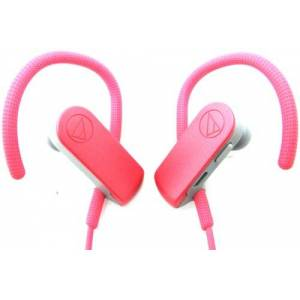 Technica Audio-Technica SonicSport Wireless In-ear Headphones - Stereo - Pink - Wireless - Bluetooth - 32.8 ft - 16 Ohm - 20 Hz - 20 kHz - Earbud, Behind-the-n