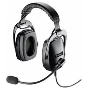 Plantronics 92073-01 Dual Channel Headset with Quick Release - Black