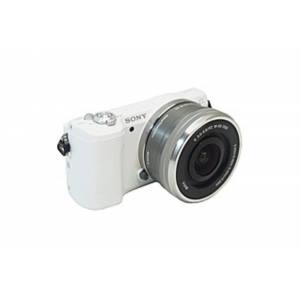 """Sony alpha α5100 24.3 Megapixel Mirrorless Camera with Lens - 16 mm - 50 mm - White - 3"""" Touchscreen LCD - 16:9 - 3.1x Optical Zoom - 4x - Optic"""