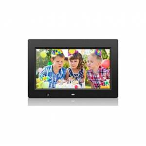 """Aluratek 10 inch Digital Photo Frame with Motion Sensor and 4GB Built-in Memory - 10"""" LCD Digital Frame - Black - 1024 x 600 - Cable - 16:9 - Autostar"""
