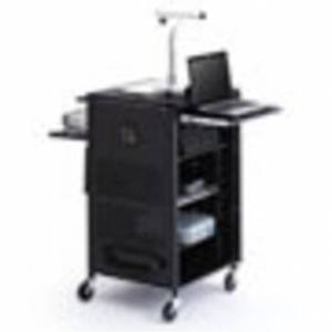 Bretford Manufacturing Bretford TCPUL23-BK Multimedia Presentation Cart - Black powder