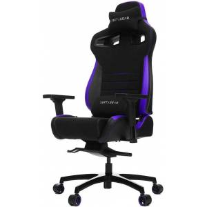 Vertagear Racing VG-PL4500_BP P-Line PL4500 Gaming Chair - 400 lb - Adjustable Seat Height - T-shaped Armrests - Headrest - 5-Pointed Star Base - Blac