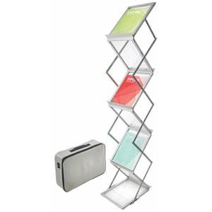 Deflecto 791061 6-Shelf Portable Literature Display - Silver