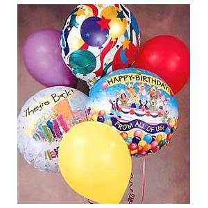 1-800-FLORALS Up, Up and Away Birthday Balloon Bouquet