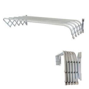 Abba Patio 32inch Towel Bar Bathroom Retractable Wall Mount Towel Rack Powder Coated Steel, White