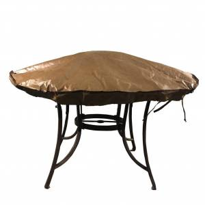 Abba Patio Round Fire Pit Cover Waterproof, 58-Inch