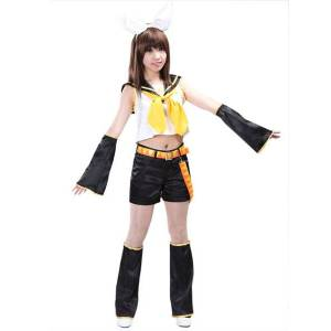 milanoo.com Milanoo Vocaloid Kagamine Rin Cosplay Costumes Halloween  - Black - Size: Extra Small