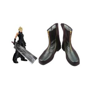 milanoo.com Milanoo Special Final Fantasy VII Cloud Strife Cosplay Boots Halloween  - Black - Size: Male US 6.5