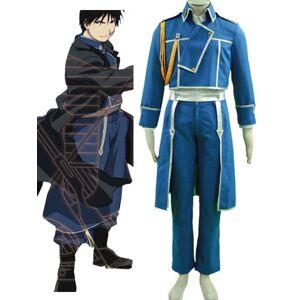 milanoo.com Milanoo Fullmetal Alchemist Roy Mustang Military Halloween Cosplay Costume Halloween  - Blue - Size: Male M