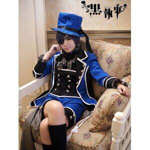 milanoo.com Milanoo Black Butler Kuroshitsuji Ciel Phantomhive Halloween Cosplay Costume Halloween  - Royal Blue - Size: 2X-Large