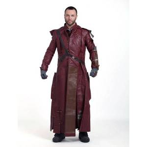 milanoo.com Milanoo Marvel Comics 2021 Guardians Of The Galaxy 2 Star Lord Peter Jason Quill Cosplay Jacket Full Set Carnival  - Dark Red - Size: Extra Large