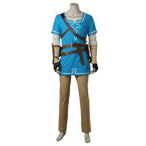 milanoo.com Milanoo The Legend Of Zelda Breath Of The Wild Link Cosplay Costume Halloween  - Blue - Size: Large