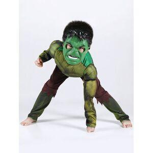 milanoo.com Milanoo Hulk Costume Halloween Kids Jumpsuits And Mask 2 Piece For Boys  - Green - Size: 140cm