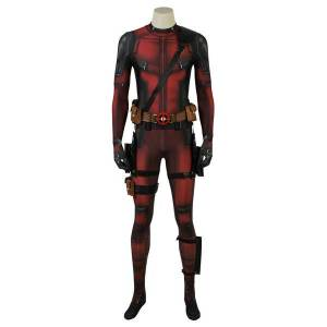 milanoo.com Milanoo Marvel Comics Deadpool 2 Wade Wilson Carnival Cosplay Costume 2021 Marvel Comics Movie Costume  - Dark Red - Size: 3X-Large