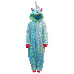 milanoo.com Milanoo Kigurumi Onesie Pajamas Unicorn Kid\'s Flannel Easy Toilet Winter Sleepwear Mascot Animal Halloween Costume  - Blue - Size: 140cm