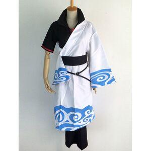 milanoo.com Milanoo Gintama Sakata Gintoki Cosplay Costume Halloween  - White - Size: 3X-Large