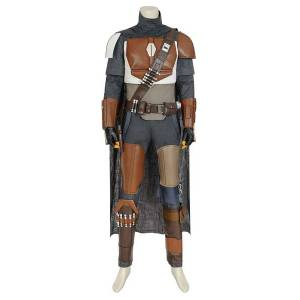 milanoo.com Milanoo Star Wars Mandalorian Din Djarin Uniform Cosplay Costume  - Deep Gray - Size: 2X-Large