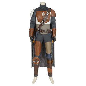 milanoo.com Milanoo Star Wars Mandalorian Din Djarin Uniform Cosplay Costume  - Deep Gray - Size: Large