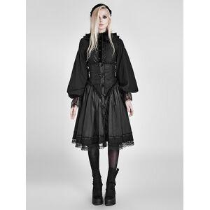 milanoo.com Milanoo Gothic Lolita SK Skirt Ruffles Black Lolita Corset Dress  - Black - Size: Extra Large