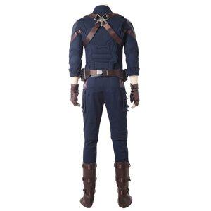 milanoo.com Milanoo Marvel Comics Avengers 3 Infinity War Captain America Steve Rogers Carnival Cosplay Costume  - Deep Blue - Size: Male M