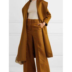 milanoo.com Woman Coat Turndown Collar Lace Up Casual Oversized Coffee Brown Maxi Coat
