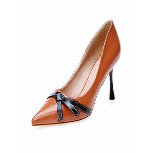 milanoo.com Milanoo Women's High Heels Slip-On Pointed Toe Stiletto Heel Fashion Pumps Heeled Shoes  - Orange - Size: US5.5(EU35 CN35)