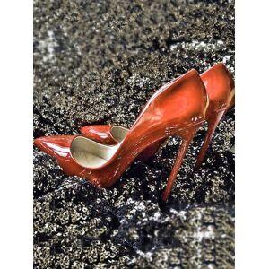 milanoo.com Milanoo Black Sexy Sky High Heels Pointed Toe Slip On Pumps Women Shoes  - Red - Size: US12(EU44.5 CN45)