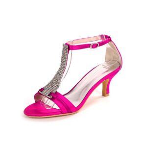 milanoo.com Milanoo Ivory Wedding Shoes Satin Open Toe Rhinestones Kitten Heel Bridal Shoes  - Rose - Size: US11-11.5(EU43 AU9.5-10 UK9-9.5)