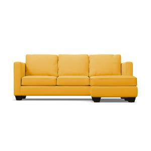 Apt2B Catalina Reversible Chaise Sleeper Sofa - Yellow Velvet -  Pull Out Couch Bed Made in the USA - Sold by Apt2B