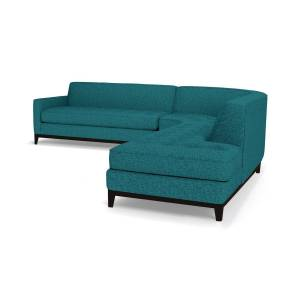 Apt2B Monroe Drive 3pc Sleeper Sectional - Blue -  Pull Out Couch Bed Made in the USA - Sold by Apt2B
