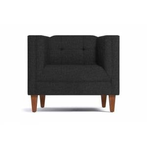 Apt2B Pacific Chair  -  Leg Finish: Pecan  -  Dark Grey Poly Blend  - Accent Chair - Furniture sold by Apt2B