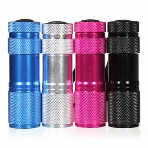 ElectronicItems 385-400nm 9 x UV LED Ultra Violet Flashlight Torch AAA