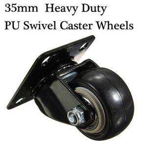 Heavy Duty PU Swivel Castor Wheels Trolley Furniture Caster Rubber