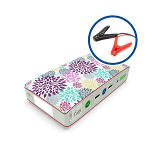 HALO Bolt 57720 Portable Dual USB Car Jump Starter (Pink Floral)