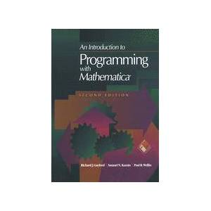 Springer Shop An Introduction to Programming with Mathematica®