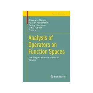 Springer Shop Analysis of Operators on Function Spaces