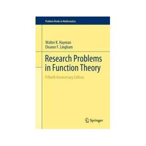 Springer Shop Research Problems in Function Theory