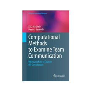 Springer Shop Computational Methods to Examine Team Communication