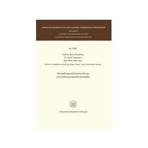 Springer Shop Herstellung und Untersuchung von Galliumarsenid-Einkristallen