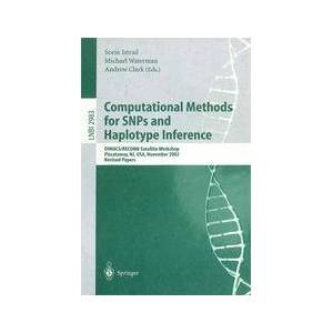 Springer Shop Computational Methods for SNPs and Haplotype Inference