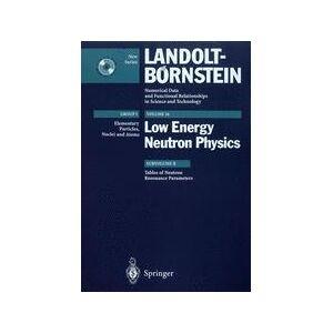 Springer Shop Tables of Neutron Resonance Parameters