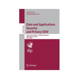 Springer Shop Data and Applications Security and Privacy XXIV