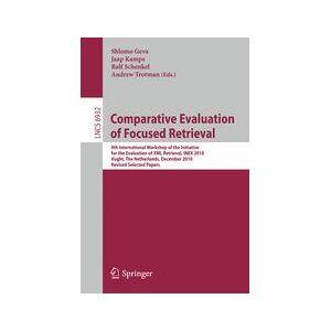 Springer Shop Comparative Evaluation of Focused Retrieval
